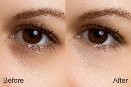 Dodge and Burn with Brush: Remove Dark Circles Under Eyes