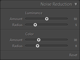 Noise Reduction Panel