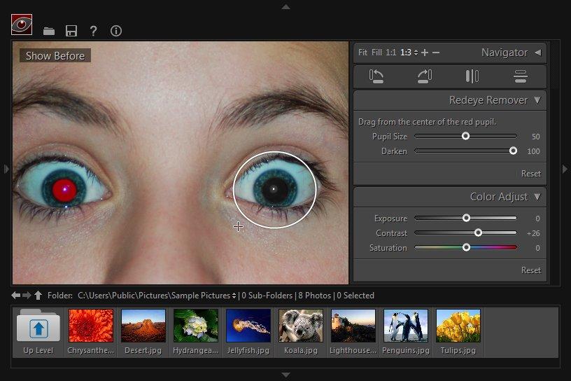 Windows 8 Free Red-eye Reduction Tool full